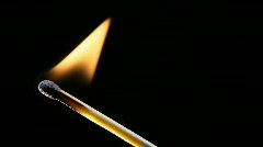 Burning match - stock footage