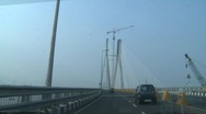 Stock Video Footage of The Bandra-Worli sea link in Mumbai
