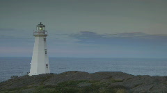 Cape Spear New Lighthouse Newfoundland Canada Stock Footage