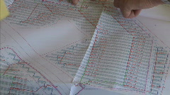 Construction plans Stock Footage