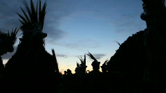 Ss silhouetted morris dancers Stock Footage