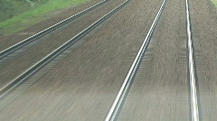 Just rails speeding by Stock Footage