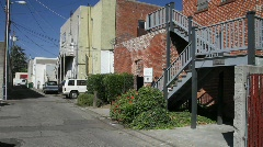 Alley stair way to building Stock Footage