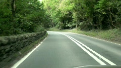 Winding Road Time Lapse Stock Footage