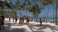 Dominican Republic: Beach Volley Ball Stock Footage