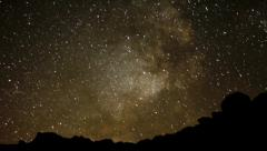 AstroPhotography Perseid Meteor Shower 11b Time Lapse Milky Way Stock Footage