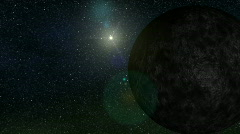 10th planet Eris and its moon Dysnomia - stock footage