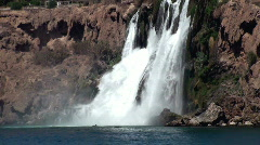 Waterfall seen from boat - stock footage