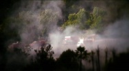Stock Video Footage of Fire-smoke and firemen