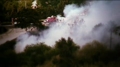 Fire smoke and trucks - stock footage