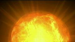 Fire ball sphere nebula background,magic power energy tech,nuclear atom. Stock Footage