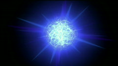 Flash ball sphere nebula background,magic power energy tech,nuclear atom. Stock Footage