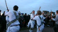 morris dancing stonehenge sticks 2 HD Footage