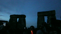 solstice stonehenge night - stock footage