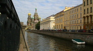 Stock Video Footage of St.Petersburg, Church of the Saviour on Spilled Blood - time lapse