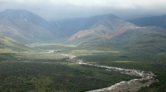 Denali National park tundra river Alaska P HD 7993 - stock footage