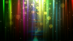 abstract glowing background with particles.  Loopable - stock footage