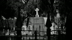 Cemetery Old Film Black & White Stock Footage