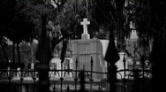Stock Video Footage of Cemetery Old Film Black & White