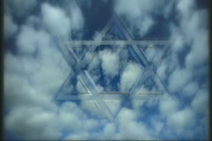 1813 Transparent Star of David Background Stock Footage