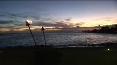 Kauai sunset 0910 10 Stock Footage