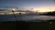 Stock Video Footage of Kauai sunset 0910 10