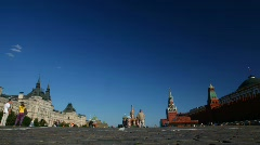 People walk on Red Square. Sunny day. Stock Footage