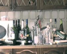 Kitchen clean up bottles Stock Footage