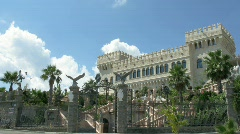 Castle in Mandatoriccio in summer day. Stock Footage