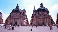 Tourists walk on area in Vatican City, Rome, Italy. Stock Footage