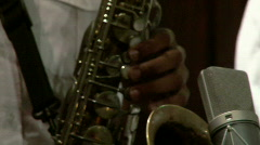 Soul saxaphone sax band concert performance Stock Footage