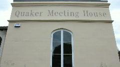 Quaker meeting house tilt Stock Footage