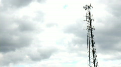 Cell Tower Time Lapse 1913 Stock Footage