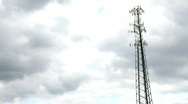 Stock Video Footage of Cell Tower Time Lapse 1913