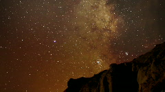 AstroPhotography Time Lapse 17 Milky Way Galaxy Pan R TU x120 - stock footage