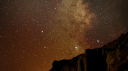 AstroPhotography Time Lapse 17 Milky Way Galaxy Pan R TU x120 Stock Footage