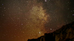 AstroPhotography Time Lapse 18 Milky Way Galaxy Zoom in x120 Stock Footage