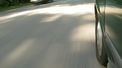 The car moves on highway, a shade from the car on asphalt. Stock Footage