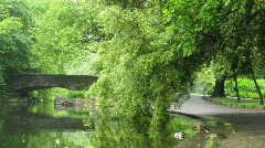 Saint Stephens Green Park in Dublin, Ireland. Stock Footage