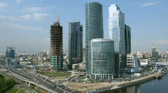 Moscow International Business Center, also referred to as Moscow-City Stock Footage