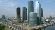 Stock Video Footage of Moscow International Business Center, also referred to as Moscow-City