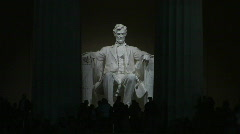 Lincoln Memorial Night 03 - stock footage