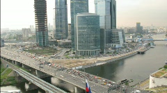 Moscow International Business Center, also referred to as Moscow-City located in Stock Footage