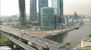 Stock Video Footage of Moscow International Business Center, also referred to as Moscow-City located in