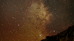 AstroPhotography Time Lapse 19 Milky Way Galaxy Zoom out x120 Stock Footage