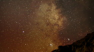 Stock Video Footage of AstroPhotography Time Lapse 19 Milky Way Galaxy Zoom out x120