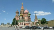 Stock Video Footage of Panoramic view of popular touristic place - Saint Basil's Cathedral, Red Square