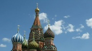 Stock Video Footage of St Basils Cathedral in Red Square, Moscow.