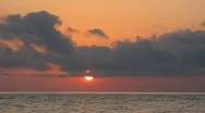 Stock Video Footage of Sunset on the sea in the summer.