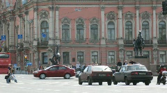 Nevsky prospect in Sankt-Petersburg, Russia. Stock Footage